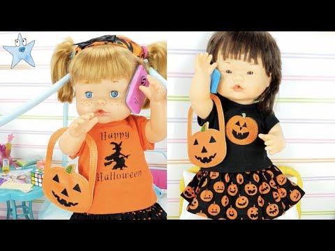 Ani Y Ona Preparan Halloween A ESCONDIDAS🎃Muñecas Con Ruth