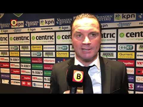 NAC-coach Vreven neemt 'alle negativiteit op zich' na verlies tegen Sparta.