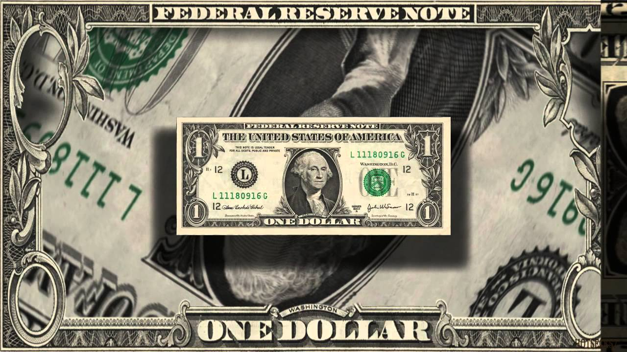 After Effects Animation One Dollar Bill Youtube