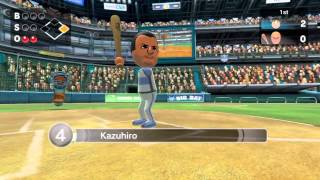 [Wii Sports Club] Baseball - Local Match Gameplay