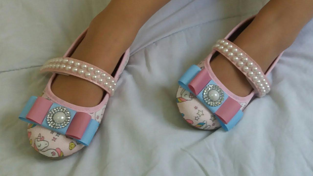 267d745729 Como Customizar sapatilha infantil unicórnio