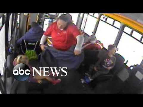 Bus Driver Saves 2 Children Wandering Alone in Bitter Cold  (ABC News)