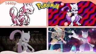 Evolution of Mewtwo Battles in Pokémon games ᴴᴰ (1996 - 2018)