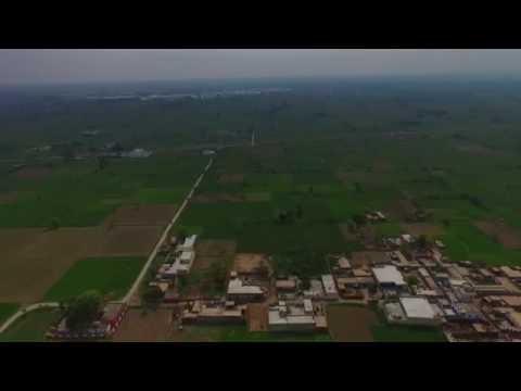 Murala to Chah Mittha aerial view. Mandi Bahauddin,Punjab,Pakistan.Crash Landing of my Drone.