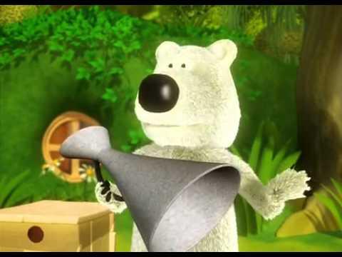 Мультфильм белый медведь и бурый медведь