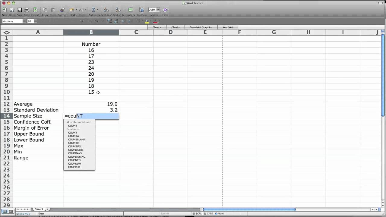 How to use Excel to Calculate Confidence Interval
