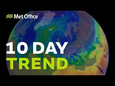 10 Day trend - unusually cold weather expected next week
