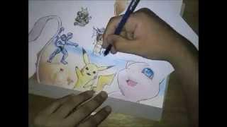 FanArt - Drawing Pokemon Team / Dibujando Equipo Pokemon
