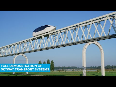 Full Demonstration Of SkyWay Transport Systems