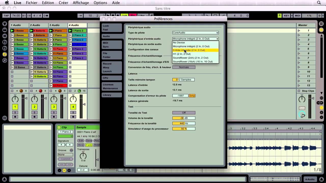 table de mixage ableton live 9