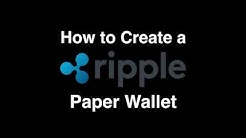 How to create a Ripple Offline Paper Wallet for securely storing your XRP in Cold Storage