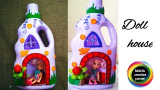 Beautiful dollhouse making with waste plastic bottle#Diy plastic bottle craft for kids/best of waste