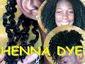 DYE NATURAL HAIR JET BLACK WITHOUT BLEACH ft HENNA POWDER | It works! ✔️Jah-nette