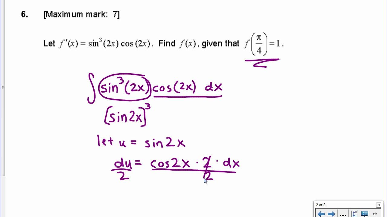 [IB Math SL] Nov 2016 TZ0: Paper 1, Question 6