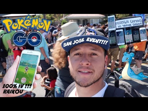 San jose Pokemon go event had so many LAPRAS !!! 100% IV RAIKOU !!!