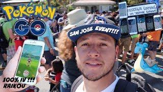 San jose Pokemon go event had so many LAPRAS !!! 100 IV RAIKOU !!!