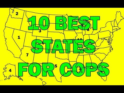 10 Best States For Cops To Work In, What Are They? LEO Round Table episode 410