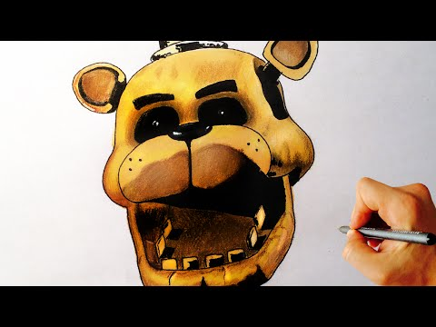 How To Draw Golden Freddy From Five Nights At Freddy's FNAF Drawing Lesson