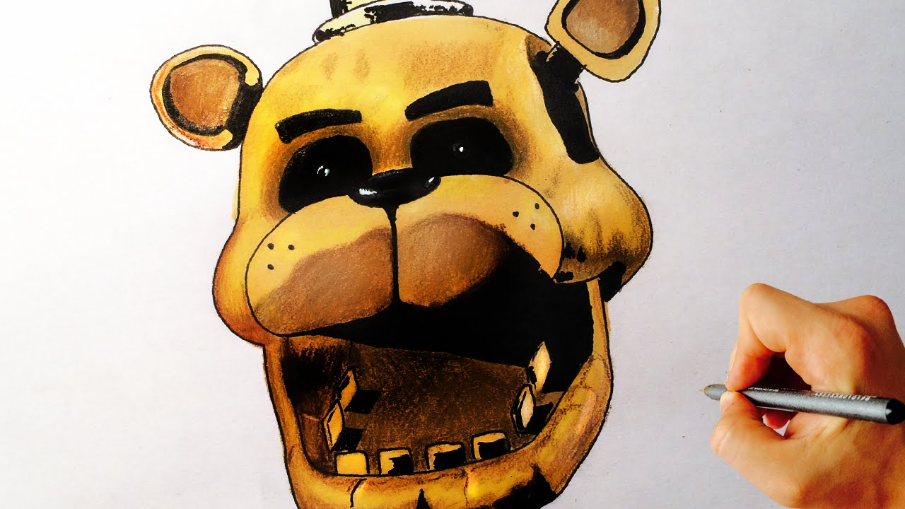 How To Draw Golden Freddy From Five Nights At Freddys FNAF Drawing Lesson