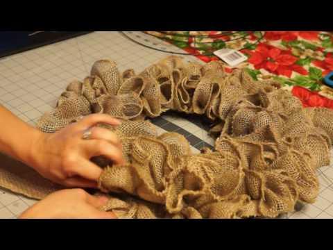 Ruffle Burlap Wreath/ Pull Through Burlap Wreath 1