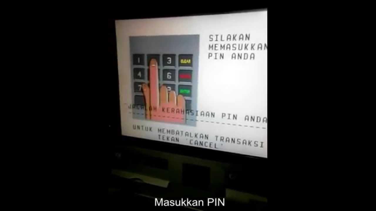 Cara Cek Saldo Rekening BCA Lewat ATM - YouTube