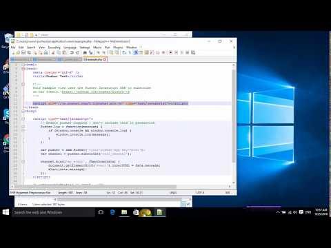Implementing #Pusher with #CodeIgniter - Видео клуб