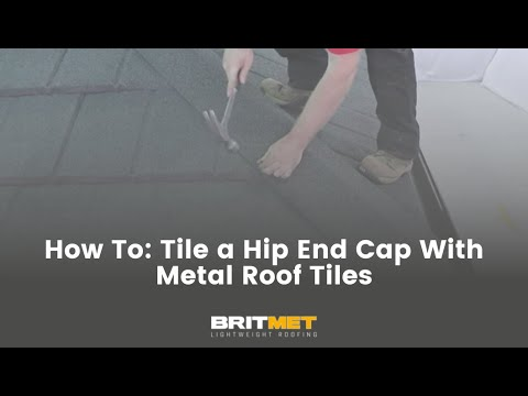 How to tile a roof with lightweight metal roof tiles: Hip End Cap