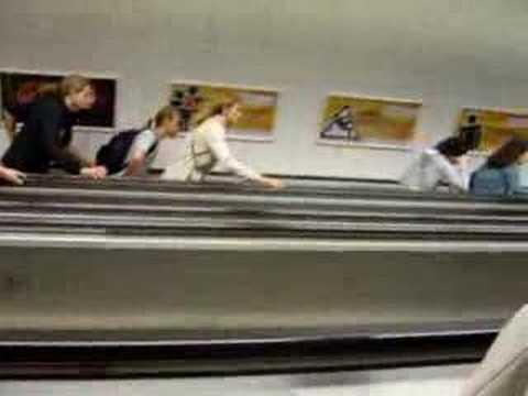 Extrange gravity law at Budapest Metro