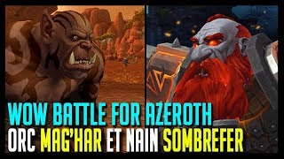PERSONNALISATION ORC MAG'HAR ET NAIN SOMBREFER - WOW BATTLE FOR AZEROTH