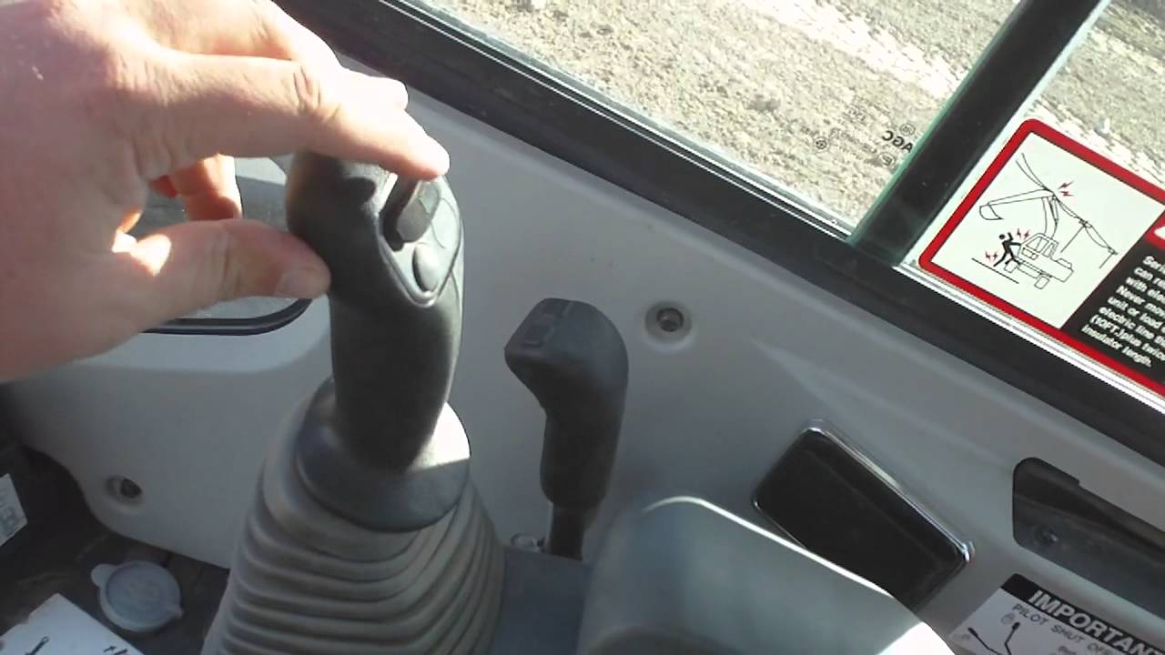 Deere 35D mini excavator controls  YouTube