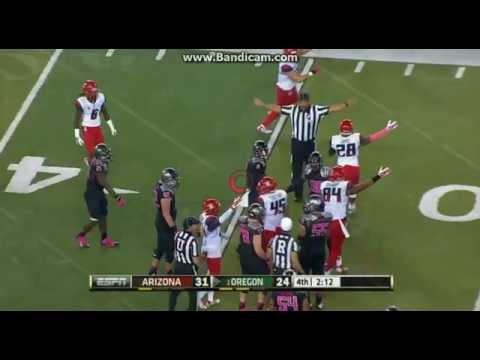 College Football: Arizona Wildcats Vs The Oregon Ducks