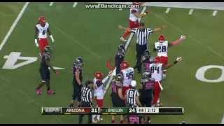 College Football: Arizona Wildcats Vs The Oregon Ducks