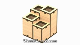 Pen And Pencil Organizer C: 3d Assembly Animation (1080hd)