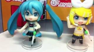 Vocaloid Nendoroid Petit RQ Set Figures Black Ver. Unboxing