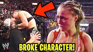 6 Times Ronda Rousey BROKE CHARACTER In WWE!