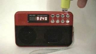 Радиоприемник с MP3 и USB | Портативная магнитола MP3