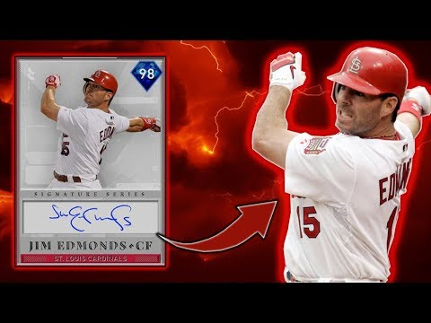 *98* JIM EDMONDS DEBUT! BEST FREE CARD?! MLB THE SHOW 19 RANKED SEASONS DIAMOND DYNASTY!