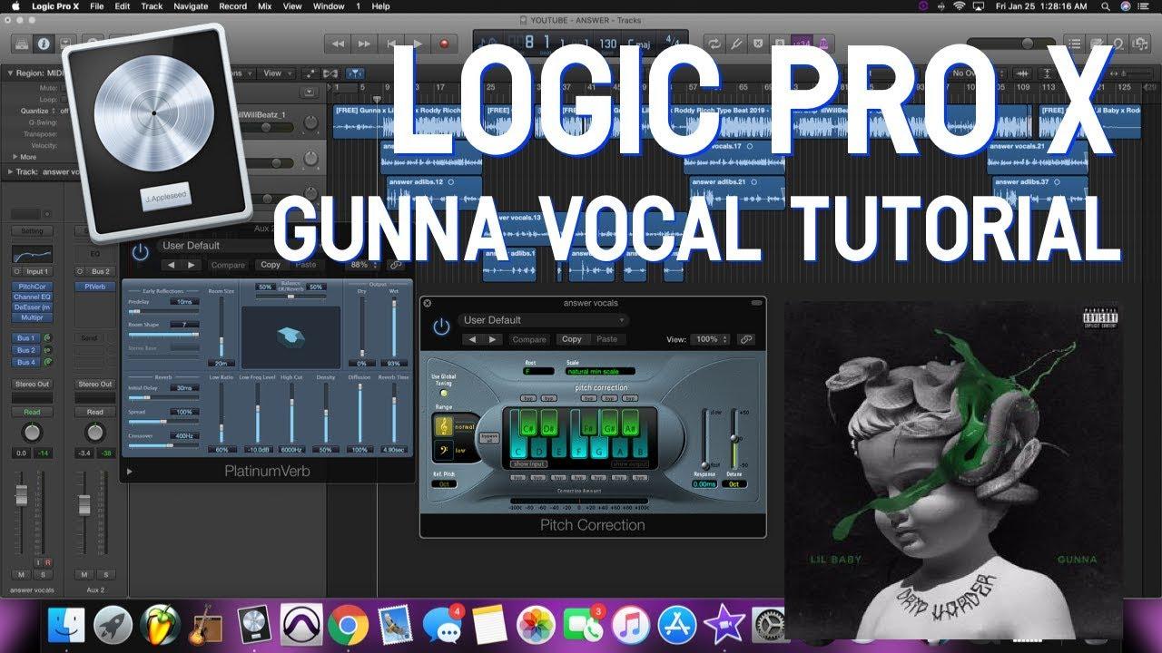 Logic Pro X - Gunna Vocal Tutorial