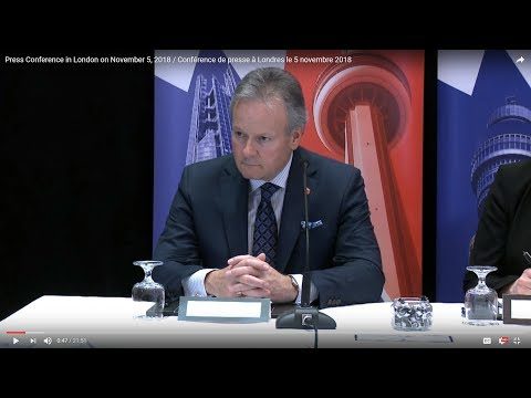 Press Conference in London on November 5, 2018 / Conférence de presse à Londres le 5 novembre 2018