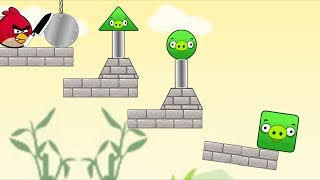 Angry Birds Piggies Out - CUT ROPE TO THROW STONE ROLLING TO PIGIGIES!