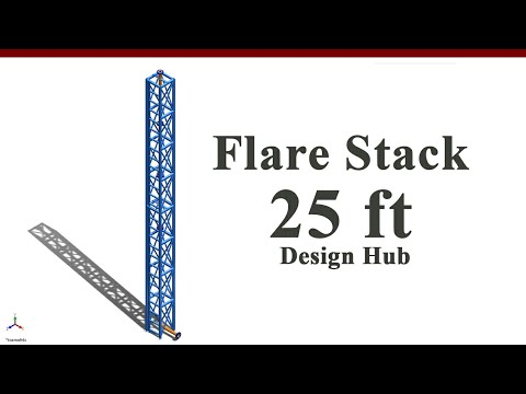 25 ft Flare stack design using solid work (3in sch40)