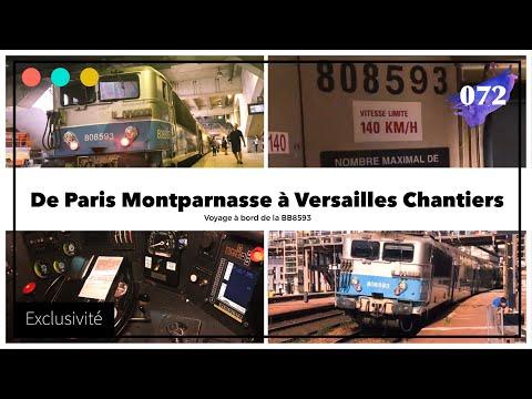 Voyage à bord de la BB8593 de Montparnasse à Versailles Chantiers #72