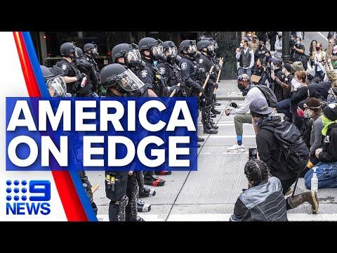 US Braces For Sixth Night Of Unrest   9 News Australia