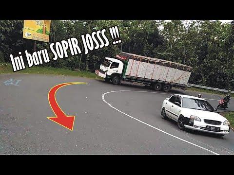 Perbedaan Skil Sopir Truck BerP3ngal4m4n dan yang Kurang Pengalaman Melewati Tikungan Timez