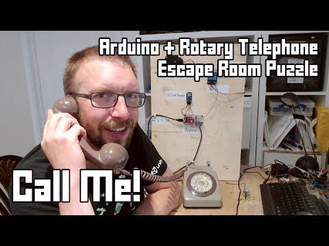 Call Me! Rotary Telephone + Arduino Escape Room Puzzle