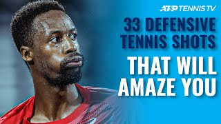 "33 ""How Has He Won That?!"" Amazing Defensive Tennis Points"