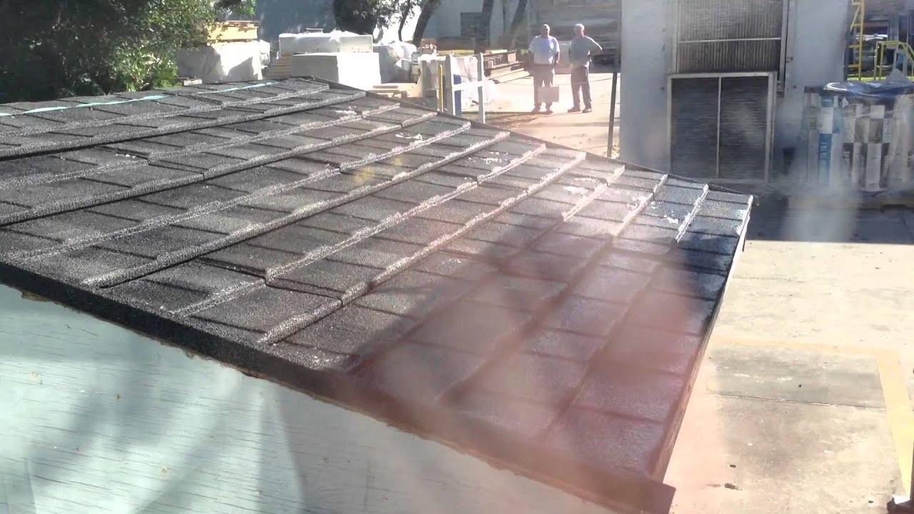 Wind Driven Rain Testing Of Decra Shingle Xd Youtube