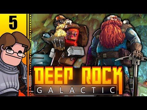 Let's Play Deep Rock Galactic Co-op Part 5 - Hard Mode Is... Hard