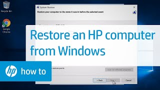 How To Restore an HP Computer from Windows