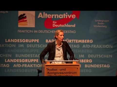 "Morddrohung mit ""Kopf ab"" Geste. Dr. Alice Weidel, AfD 27.10. 2019"